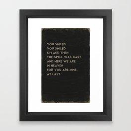 At Last Song Art Music Poster of Etta James Lyrics Framed Art Print