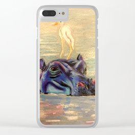 Hippo Ride Clear iPhone Case
