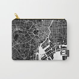 Tokyo - Minimalist City Map Carry-All Pouch