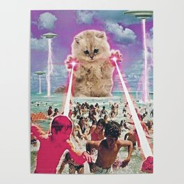 Cat Attack Poster