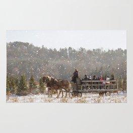 Dashing Through The Snow Rug