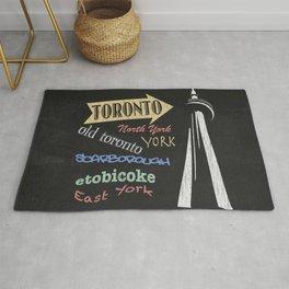 Toronto Tourism Poster Rug