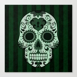 Día de los Muertos in Emerald Green Canvas Print