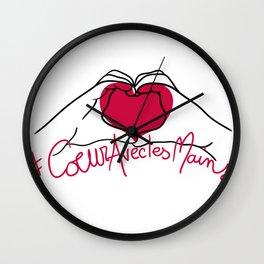 #coeuraveclesmains Wall Clock