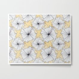 Abstract flower pattern Metal Print