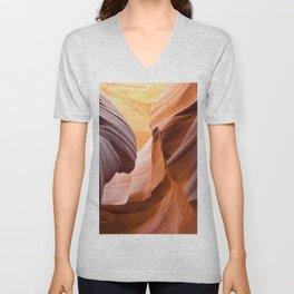 Antelope Canyon, United States Unisex V-Neck