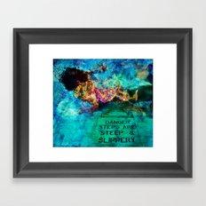 Slippery Framed Art Print
