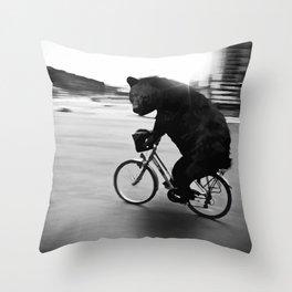 Biker Road Throw Pillow