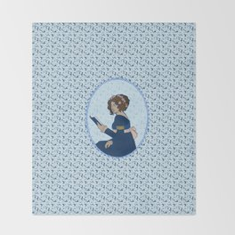 Elizabeth Bennet - Pride and Prejudice Throw Blanket