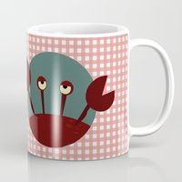 crab Mugs featuring Crab by Mr and Mrs Quirynen