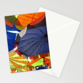 Parasols on a Thailand beach Stationery Cards