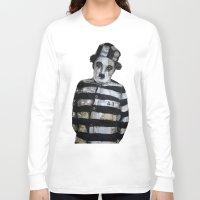 chaplin Long Sleeve T-shirts featuring Charles Chaplin  by Krzyzanowski Art
