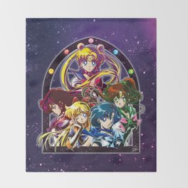 Sailor Moon S (Universe edit.) Throw Blanket