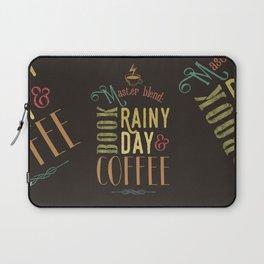 Coffee, book & rainy day Laptop Sleeve