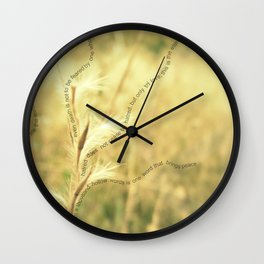 Wallpaper Quote Wall Clock
