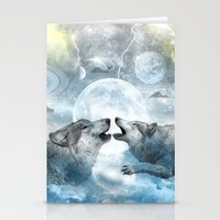 wolves Stationery Cards featuring Wolves by haroulita