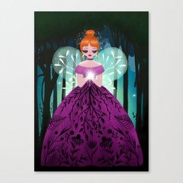 In The Ancient Forest The Woodland Fairy Walks Canvas Print
