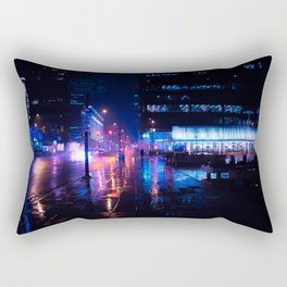 rainy nights in Vancouver Rectangular Pillow