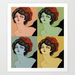 4 Colors Art Print