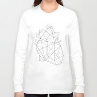 origami Long Sleeve T-shirts featuring Origami Heart by Ana Carvalho