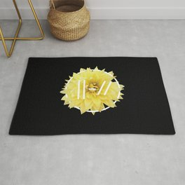 Trench Yellow Flower Rug