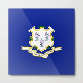 Musical State Flag of Connecticut Metal Print