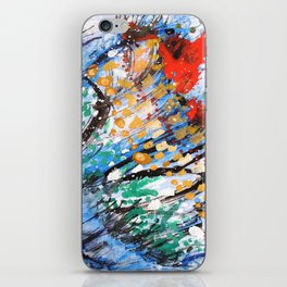 BUTTERFLY - Original abstract painting by HSIN LIN / HSIN LIN ART iPhone Skin
