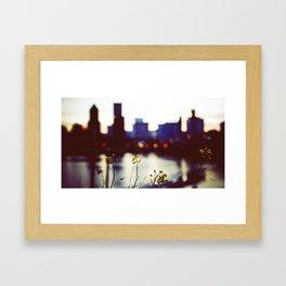 welcome to portland oregon Framed Art Print