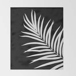 Tropical Palm Leaf #2 #botanical #decor #art #society6 Throw Blanket