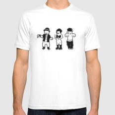 Gangster babies. MEDIUM White Mens Fitted Tee