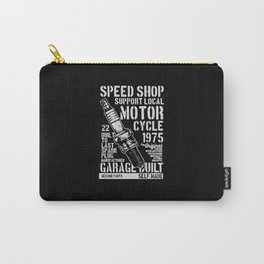 speed shop motorcycle garage Carry-All Pouch