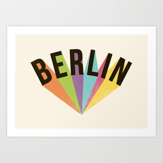 Letters : Berlin Art Print