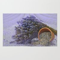 lavender Area & Throw Rugs featuring Lavender by Fran Walding