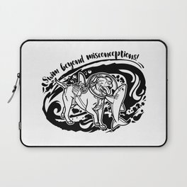 Lexy & Bruce - Swim beyond misconceptions! Laptop Sleeve