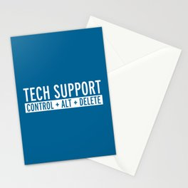 Tech Support Funny Quote Stationery Cards