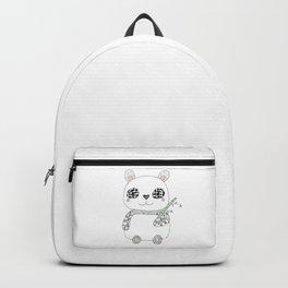 Cute coloured Panda | Hand drawn zentangle illustration art |  Backpack
