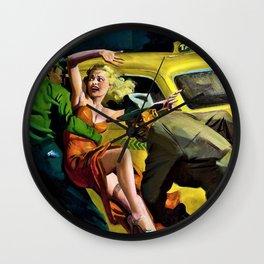 Hugh Joseph Ward - Mrs. Big, Super Detective pulp cover - Digital Remastered Edition Wall Clock