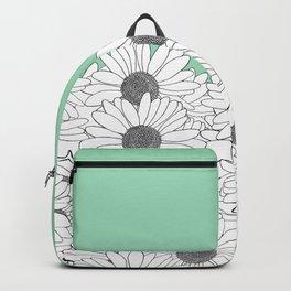 Daisy Boarder Mint Backpack