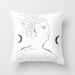 Child moon Throw Pillow