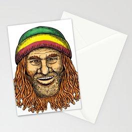 Rastafarian Dude Tattoo Color Stationery Cards