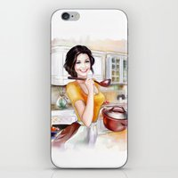 cook iPhone & iPod Skins featuring cook by tatiana-teni