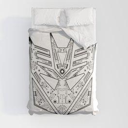 Decepticon Tech Black and White Comforters