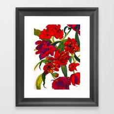 Inky Tulips Framed Art Print