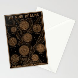 Yggdrasil: The Nine Realms Stationery Cards