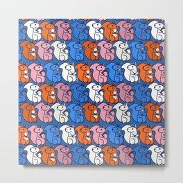 retro squirrels- pattern Metal Print