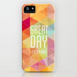 Geometric Colors iPhone Case