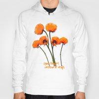 oriental Hoodies featuring Oriental Poppies  by LudaNayvelt