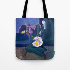 The Old Tennis Player Tote Bag