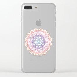 Peaceful Ohm Mandala Clear iPhone Case
