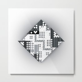 black abstract Metal Print